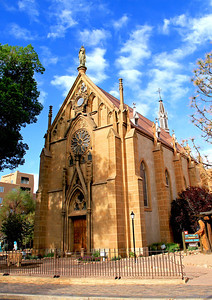 Loretto Chapel.  Downtown Santa Fe, NM.