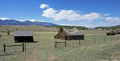 Abandoned Ranch. Near Westcliffe, CO. Sangre de Cristo Mtns in background.