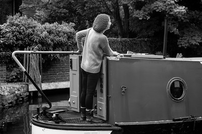 Flogging Molly on the Kennet and Avon Canal Newbury bw