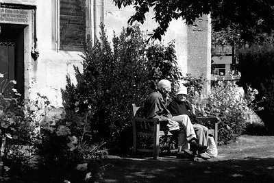 Couple on the Church Bench