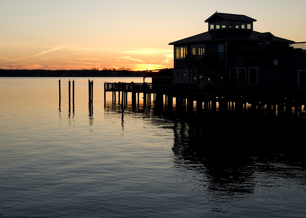 Sunset over the Patuxent River, Solomons MD