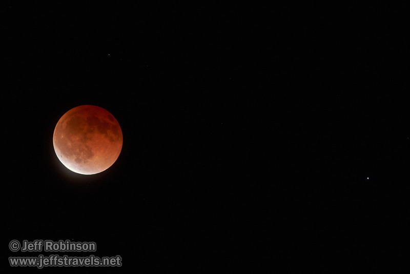 The moon in total eclipse, with a star to its right  (4/15/2014)<br /> TAMRON SP 150-600mm F/5-6.3 Di VC USD A011 @ 428mm f6.3 1/3s ISO2500