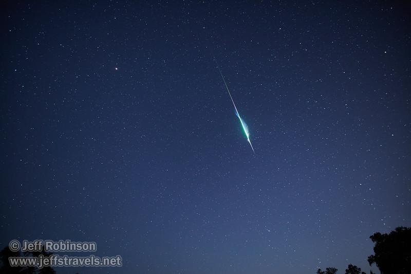 Huge Perseid Meteor