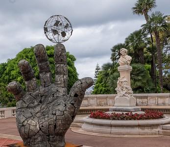 Statues behind Casino - Monaco 2018