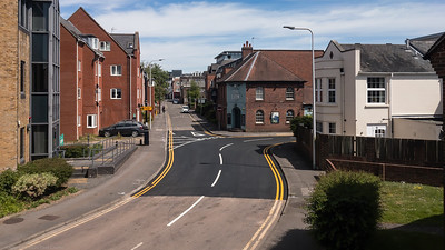 New tarmac and paint in West Street Newbury - taken from kitchen window during lockdown 2020