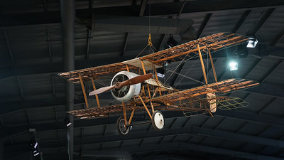 Early wooden biplane at the Fleet Air Arm Museum