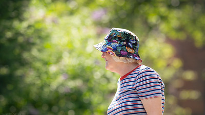 Busy Barging with Colourful Hat