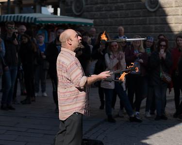 Man Throwing Fire - Bath Street Performer 24th March 2019