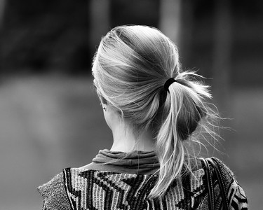 Pony Tail in Black and White