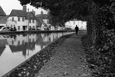 West Mills Newbury  - Autumn Towpath