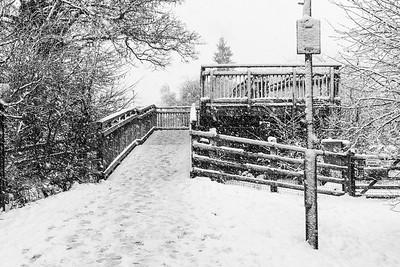 Snow to the Bridge -  Newbury Berkshire