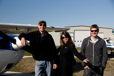 Your truly, Rachel and Mike before take-off.