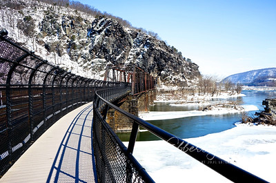 The railroad bridge over the Potomac River, Harpers Ferry
