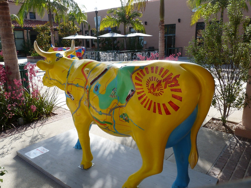 """San Diego Moooves You"".  <br /> <br /> Sponsored by Metro Transit & Coca Cola, this cow was pretty cool -- the little stations and sight-seeing spots along the rails are in 3-d"
