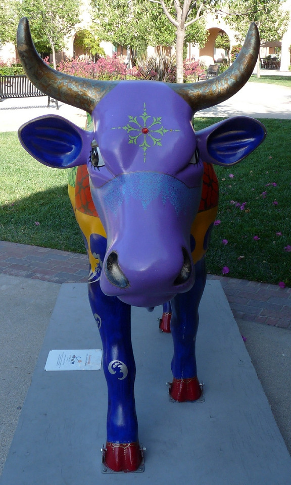 gotta love that purple cow face!<br /> <br /> Now you can say you've seen a purple cow, ya?