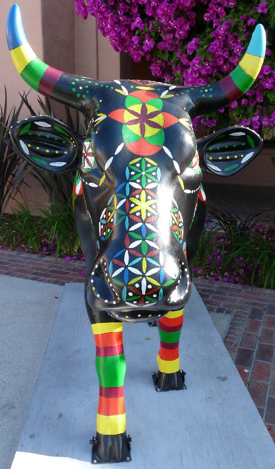 I guess I was a bit taken with this anonymous cow and her stripey stockings