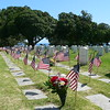 Almost every grave sported a little flag