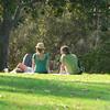 some strangers enjoying the park