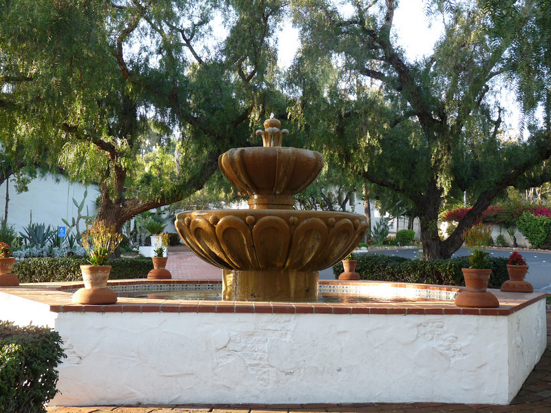 beautiful fountain in the courtyard<br /> <br /> By 1790, most of the reconstruction of the Mission was completed, with the church and other buildings arranged in a quadrangle around the courtyard, in which  this fountain as the centerpiece.
