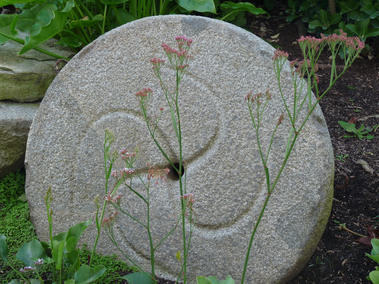 close up of one of the grindstones