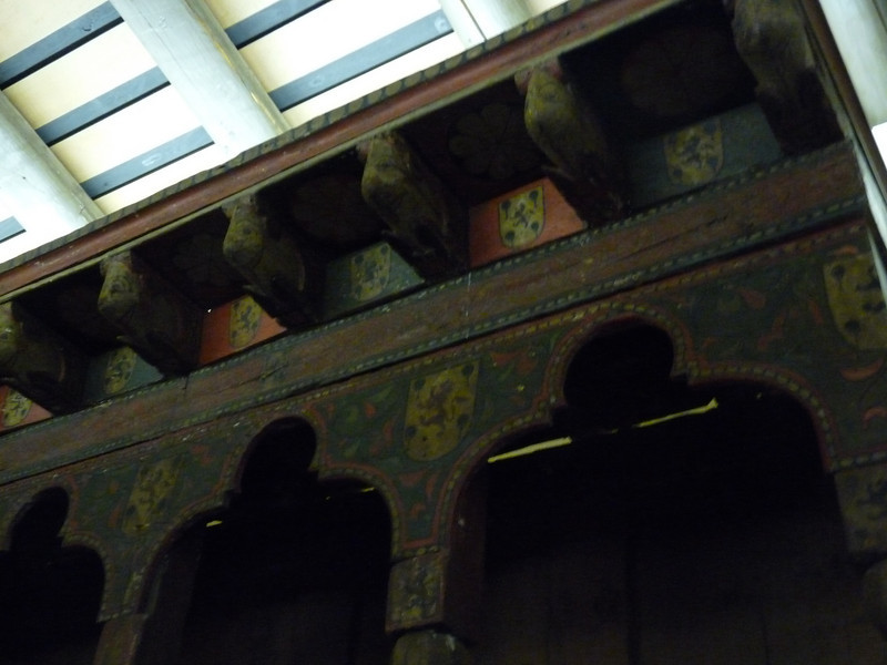 detail of the beautiful riser above the monk's seats