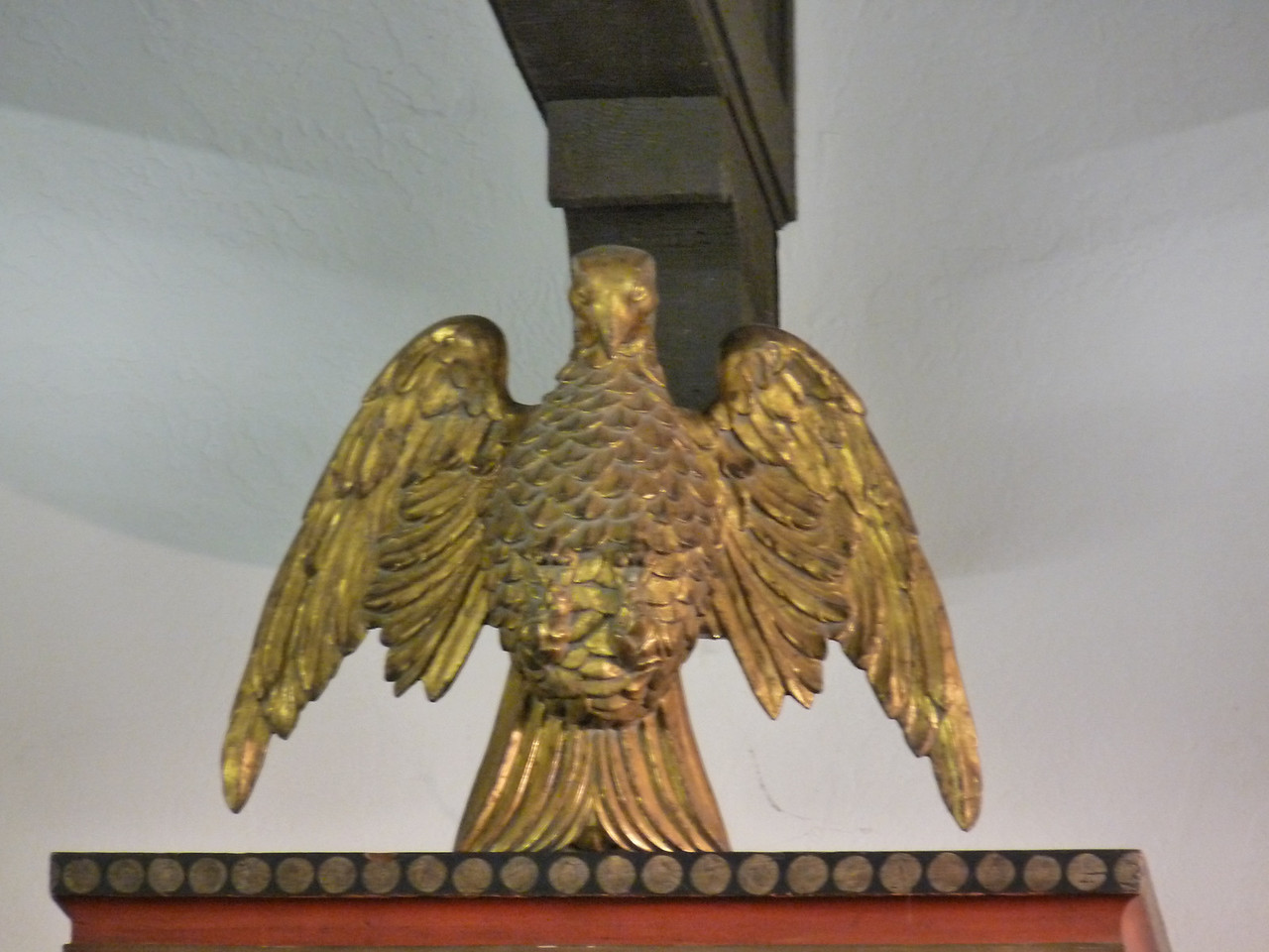 the eagle above the Alter, representing the resurrection   (hhmmm, I always thought that was the Phoenix.  Oh!  Different religion/culture!)