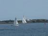 If the day had been more clear, this would be a better pic.  Zoomed in on a couple of sail boats near North Island