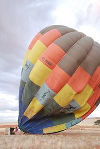 Raising the Hot Air Balloon, Namib Rand Reserve