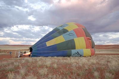 Filling the Hot Air Balloon, Namib Rand Reserve
