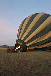 Readying for liftoff. Grumeti Serengeti Tented Camp, Tanzania