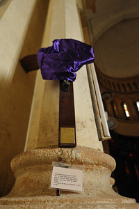 Dr. Livingstone fought for the abolition of slavery in East Africa. Before his death, he asked that his heart be buried in Africa and his body returned to England. This cross is made from wood from the tree under which his heart was buried in Chitambo, Illala, Zambia in 1873. Two of his friends, both African, carried his dessicated body to the coast on their backs. From there it was returned to England to fulfill his wish.