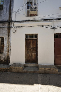 African Door architecture in Stone Town, Zanzibar