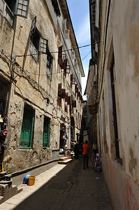 Typical alley in Stone Town, Zanzibar