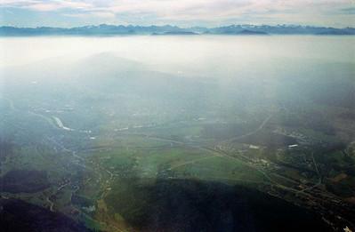 Approaching the Adriatic coast of Yugoslavia.