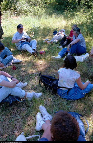 In the oak grove in Medjugorje.  Tom Rooney (top), Mary Doran (right, top).