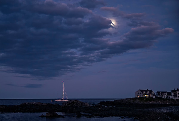 Moon Rise Over Perkins Cove