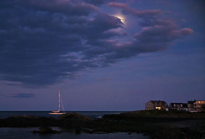 Moon Rise at Perkins Cove