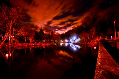 Morpeth River by Night