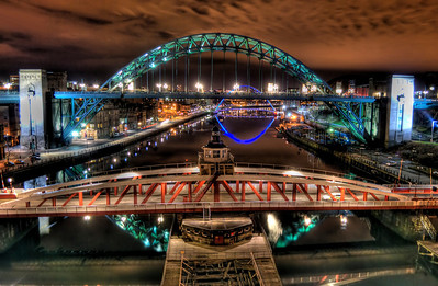 HDR of the Bridges in Newcastle Upon Tyne