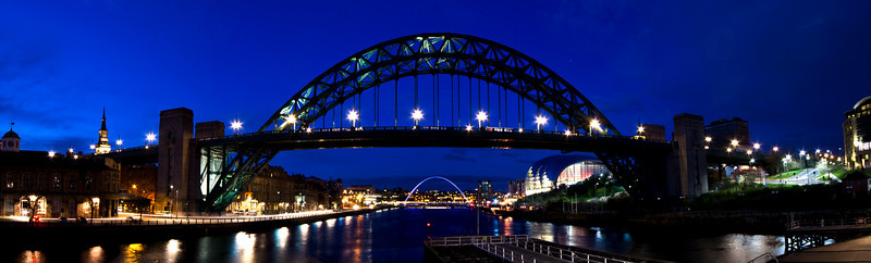 Panorama of the Tyne Bridge