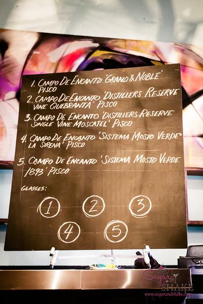 Campo de Encanto pisco tasting at The Manifest. © 2014 Sugar + Shake