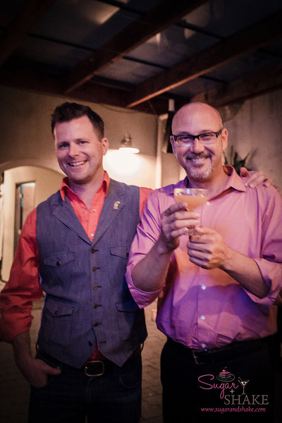 Duggan McDonnell (left), co-founder and CEO of Encanto Pisco, with Joey Gottesman of Young's Market. © 2014 Sugar + Shake