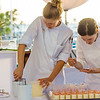Hawai'i Food & Wine Festival 2013; Under the Modern Moon event: Assistants help assemble Chef Stephen Durfee's dessert dish. © 2013 Sugar + Shake