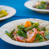 Hawai'i Food & Wine Festival 2013; Taste our Love for the Land event: Chef Chris Cosentino (Incanto) — Lobster Crudo Fra Diavolo. Local producers: Kona Cold Lobster, 'Nalo Farms. © 2013 Sugar + Shake