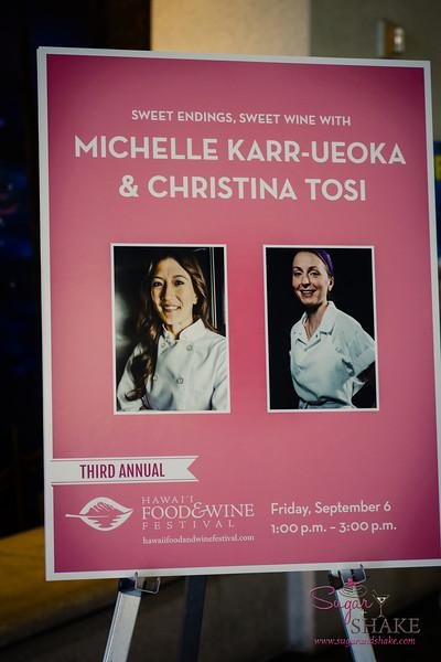 Hawai'i Food & Wine Festival 2013; Sweet Endings, Sweet Wines seminar with Michelle Karr-Ueoka (MW Restaurant) & Christina Tosi (Momofuku Milk Bar). © 2013 Sugar + Shake