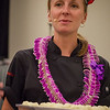 Hawai'i Food & Wine Festival 2013; Sweet Endings, Sweet Wines seminar: Chef Christina Tosi hands out Cake Truffles. © 2013 Sugar + Shake