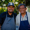 Hawai'i Food & Wine Festival 2013; Taste our Love for the Land event: Chef Sheldon Simeon with his dad, Reinior Simeon. © 2013 Sugar + Shake