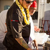 Hawai'i Food & Wine Festival 2013; Taste our Love for the Land event: Chef Ippy Aiona explains his dish to guests. © 2013 Sugar + Shake