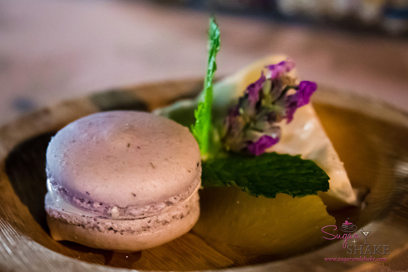 Hawai'i Food & Wine Festival 2013; Savory Ever After event: Chef Elizabeth McDonald (Honu Seafood & Pizza) — Hawaiian Panna Cotta and Lavender Macaron. Local producers: Ali'i Kula Lavender, Naked Cow Dairy, Surfing Goat Dairy. © 2013 Sugar + Shake