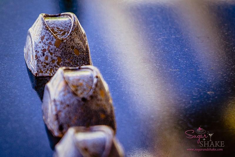 "Hawai'i Food & Wine Festival 2014:  ""Corks & Forks."" Hawaiian Chocolate Bon Bons by Chef Mark Freischmidt (Halekulani, Honolulu).  © 2014 Sugar + Shake"